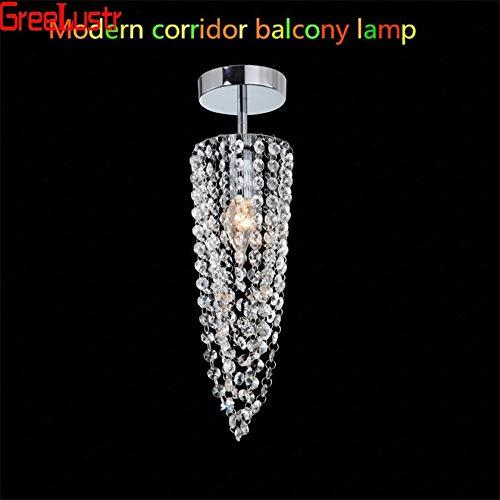 Temperament Plafond Lamp Armatuur plafonnier Crystal LED Luster Ceiling Lighting Bevestiging for Home Balkon Aisle Corridor Trapverlichtingstijd hjm grregsdv