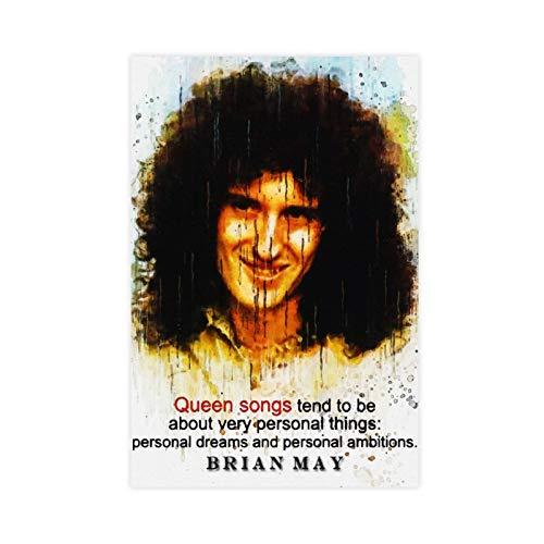 Póster de la lona del guitarrista Brian May para la decoración de la sala de estar, dormitorio, 30 x 45 cm, estilo unframe-1