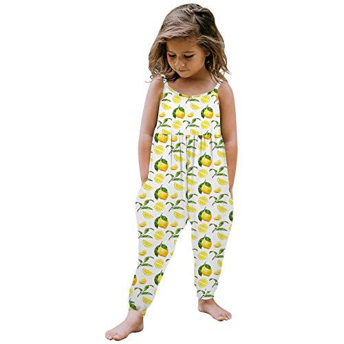 Kobay Mädchen Sommer interessant Muster Kleinkind Kinder Baby Mädchen Ärmellose Sommer Strampler Overall Spielanzug Kleidung