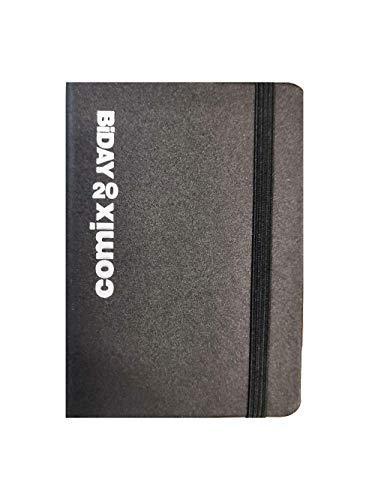 Agenda Comix Biday 2020 Bigiornaliera Nero Argento con Elastico Mini 7x10 cm