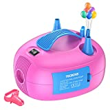 TECBOSS Balloon Pump, Electric Dual Nozzle Balloon Inflator, Portable Air Blower for Decoration, Party (110V, 600W)