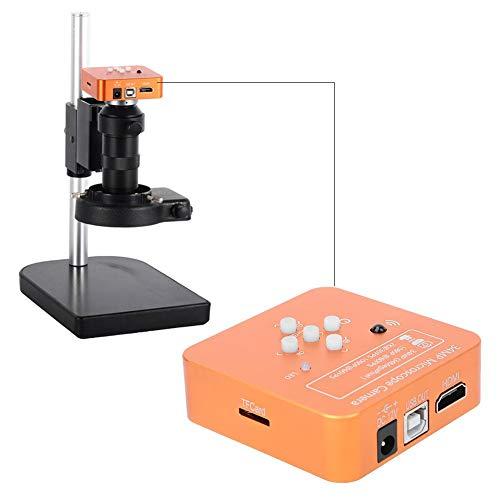 34MP HDMI Mikroskop Kamera Orange USB High Definition Industrie Digital C-Mount Monokular Mikroskop Kamera Set für Telefon Reparatur(EU Plug)
