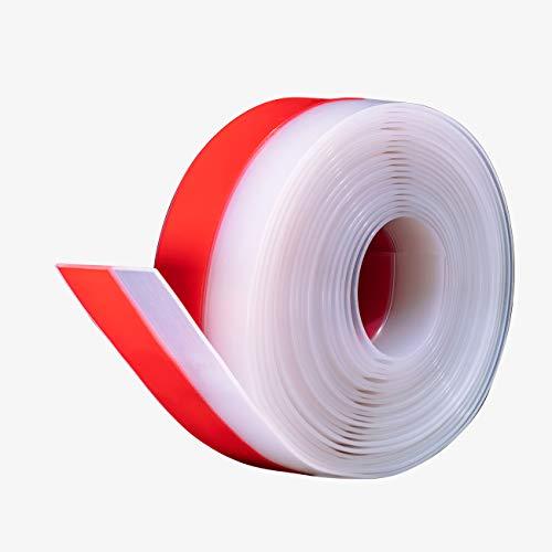 fowong Selbstklebendes Türdichtung 3cm(B) x 6m(L) Silikagel Fenster und Türen Zugluftstopper Duschtür Dichtung zum Siegel, schalldicht, staubdicht, wasserdicht (Transparent)