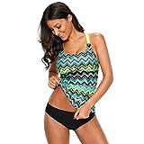 Bikini Mujer Trajes de baño for Womencoral Impreso bañador de una Pieza Superior, Conveniente for la Playa/Piscina/SPA/Etc Vacaciones, Verde (2XL) Bikinis Mujer (Color : White, Size : 3XL)