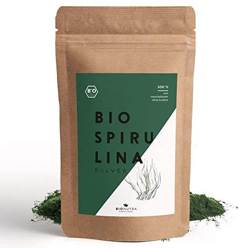 BioNutra® Spirulina-Pulver Bio 250 g, 100% rein & natürlich, rückstandskontrolliert, nach EU-ÖKO-Standard kultiviert und hergestellt