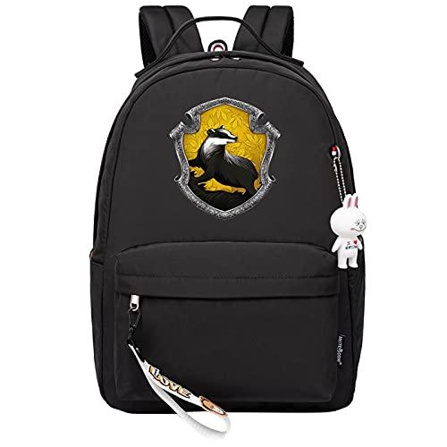 MMZ Mochila - Mochila ligera de la manera de los muchachos de las muchachas de la mochila de la escuela, un tamaño Ravenclaw (negro)