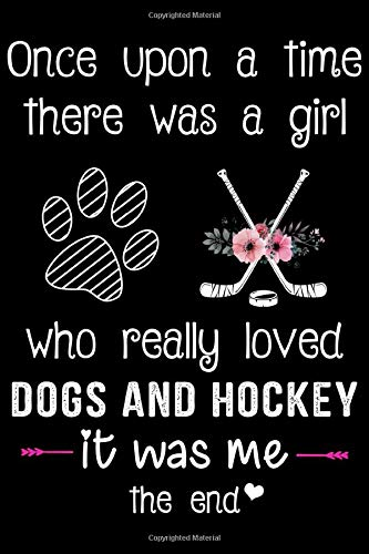 A Girl Who Loves Dogs And Hockey: Hockey Soft Cover Cute Lined Journal Notebook Practice Writing Diary - 120 Pages 6 x 9 Women Gift For Hockey Fans