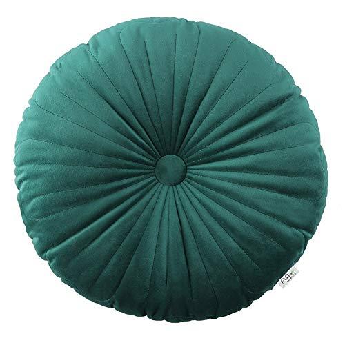 DSFHH Velvet Chair Pads Round Sitzkissen verdicken weich warm waschbar zu Hause alle Jahreszeiten geeignet for Küche Garten Esszimmer Terrasse Büro (Color : Green, Size : 40CM*40CM)