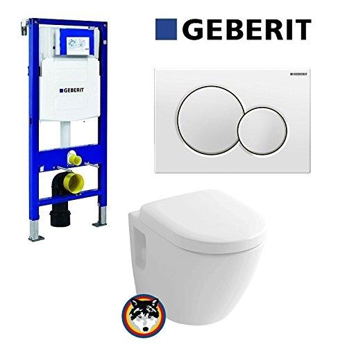 Geberit Duofix UP 320 Vorwandelement mit Sigma01, Toto CW762Y Wand WC TORNADO FLUSH, WC Sitz Softclose