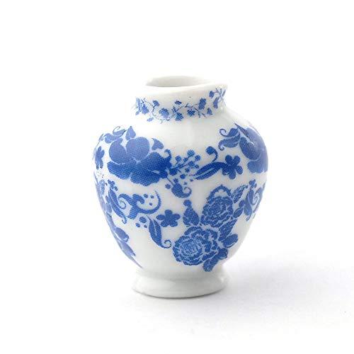 Melody Jane Puppenhäuser Blau Delft Krug Vase Miniatur 1:12 Ornament Zubehör
