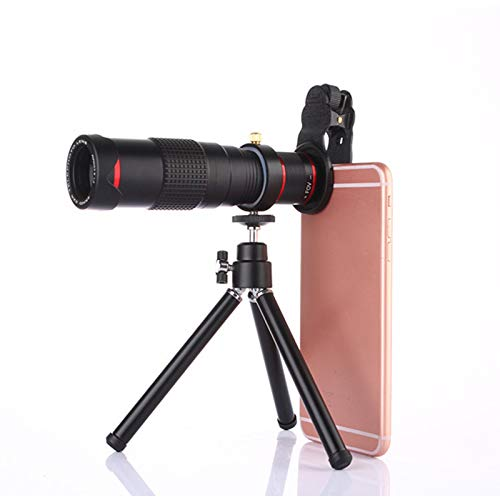 WQYRLJ  22X Optical Zoom Phone Camera Lens, 4K HD Zoom Universal Telephoto Lens with Tripod for Smartphone Bird Watching Hunting Best Gifts for Men