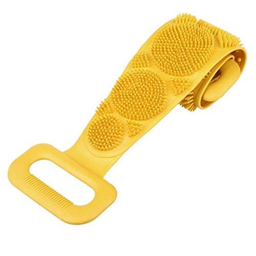 Brosse En Silicone Serviette De Bain Essuyer Le Dos Boue Peeling Body Shower Magic Brush Flexible Scrubber Nettoyage De Salle De Bain Taille Unique C