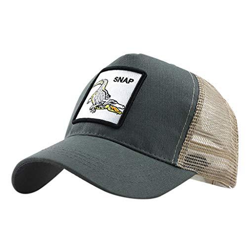 LOPILY Gorra de béisbol de algodón Bordado de Animales Sombreros Cowboy Moda Sombrero de Mujer y...