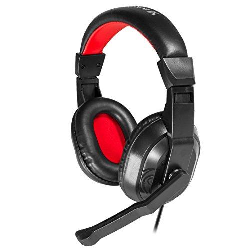 Mars Gaming MRH0, Auriculares PC, Cancelación Ruido, Diadema Cerrada, Ajustable, Negro