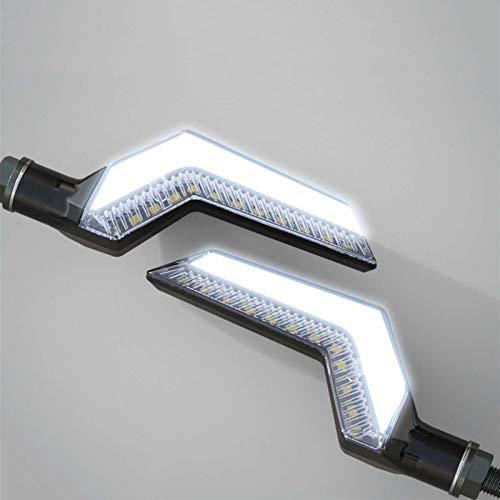 Fpm Cola luz de Freno LED Motocicleta Gire Signals LED Light INDICADOR Universal (Color : White)