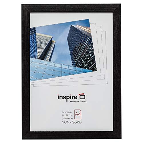 Hampton Frames SORBONNE Cadre photo en papier effet bois, Contreplaqué, Noir , A4 (21x30cm)
