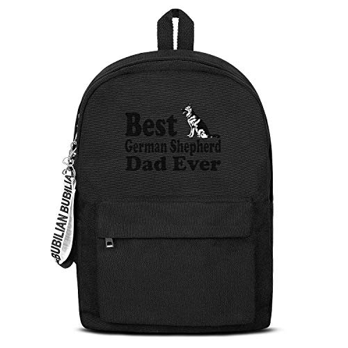 Best German Ghepherd Dad Dog Lover Unisex Canvas Backpack Pretty Satchel Diaper Backpack for Girls Boys