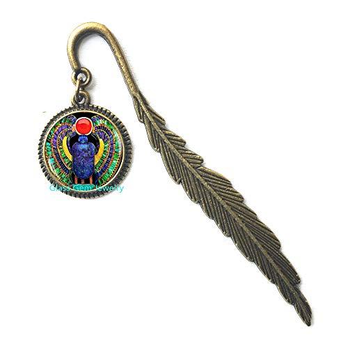 Segnalibro con scarabeo egiziano, gioielli per scarabeo, gioielli dell'antico Egitto, gioielli egiziani, segnalibro scarabeo, scarabeo egiziano, segnalibro da uomo, Q0112
