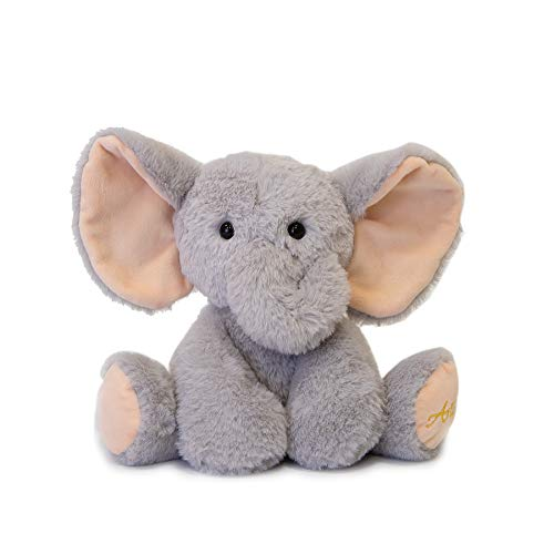 TCBunny Baby Elephant Bedtime Stuffed Animal Cute Plush Toy Gifts for Girls Boys Kids 11quot Grey