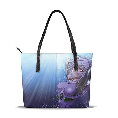 NEON GENESIS EVANGELION Handbag Microfiber leather Zipper handbag Printing...