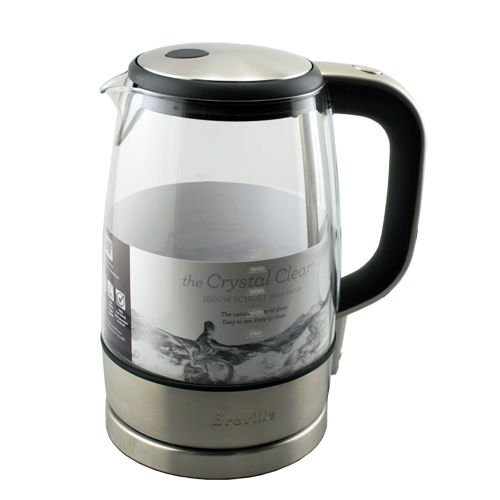 Breville The Crystal Clear 7-Cup Electric Kettle Crystal Clear Pure Glass Boil