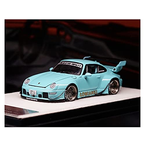Boutique 1:64 para RAUH-Welt BEGRIFF 911 RWB 993 Blue Diecast Model Car Adornos De Colección para Adultos (Color : 1)
