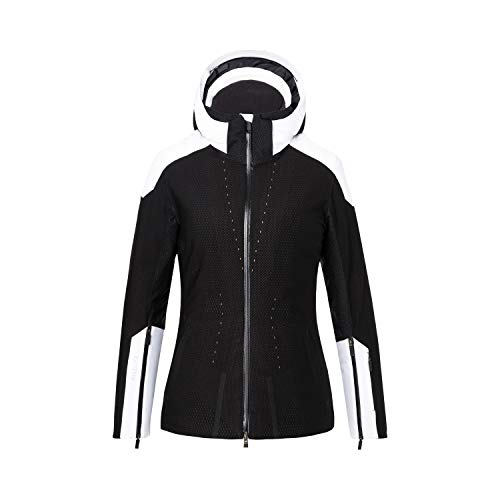 KJUS Women Freelite Jacket Schwarz, Damen Daunen Regenjacke, Größe 36 - Farbe Black - White