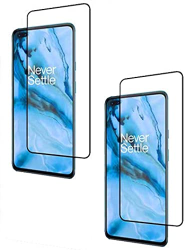 Pack Of 2 With 11D 6D Black Full Screen Edge To Edge Tempered Glass For Oneplus Nord Oneplus Nord Edge To Edge Temper Glass By Candeal Mart