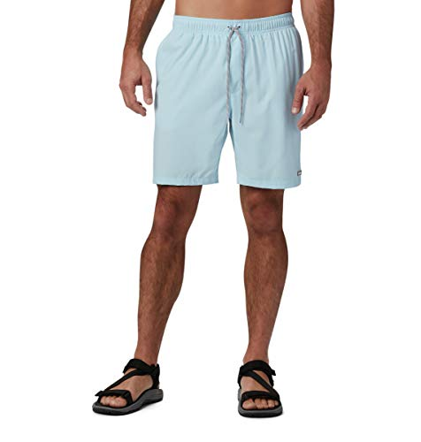 Columbia Men's Big and Tall Magic Water Short, Print Appears When Wet, Sky Blue Tropical Floral, 4X x 8
