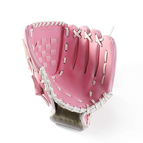Baseball-Handschuh PU-Leder-Softball-Handschuhe Baseball-Werfer-Handschuhe Kinder Jugendliche und Erwachsene Rechte Hand Wurf for Männer und Frauen mit Baseball ( Color : Brown , Size : 11.5 Inch )