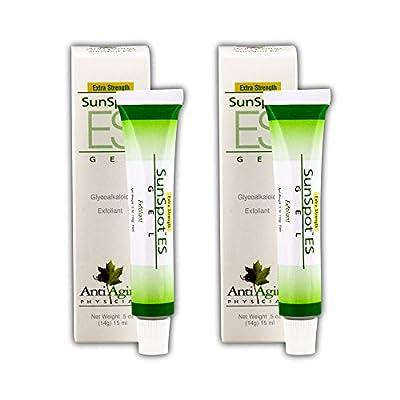 Lane Innovative - Sunspot ES, Natural exfoliating Gel, Skin rejuvinating Ingredients, Including Aloe Vera and Tea Tree Oil (0.5 Ounce, Pack of 2)