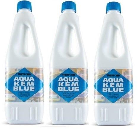 Liquido Aqua KEM Bottiglia da 2 Litri DISGREGANTE per Serbatoio Camper WC Chimico ACQUE Nere Marchio Thetford - Offerta per 3 Bottiglie da 2 Litri