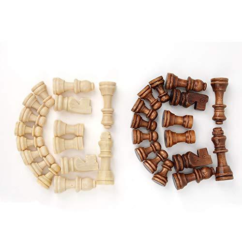 Pezzi degli Scacchi in Legno, Figure del re da 2,2 Pollici 32 Pezzi del Gioco di Scacchi pedine Pezzi di Figurine per Giochi da Tavolo per Bambini e Adulti