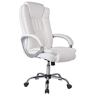 Venta Stock Confort 2 – Sillón de Oficina elevable y reclinable, Piel sintética, Color Blanco