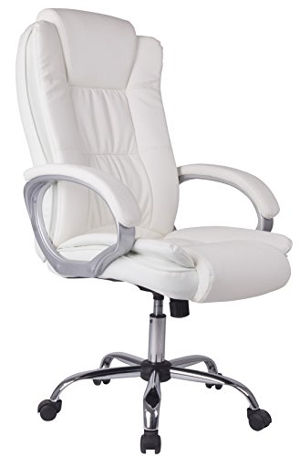 Venta Stock Confort 2 - Sillon de Oficina elevable y reclinable, Piel sintetica, Color Blanco