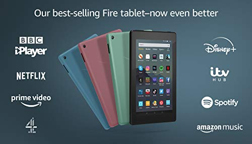 "Certified Refurbished Fire 7 Tablet | 7"" display, 16 GB, with Ads, Sage"