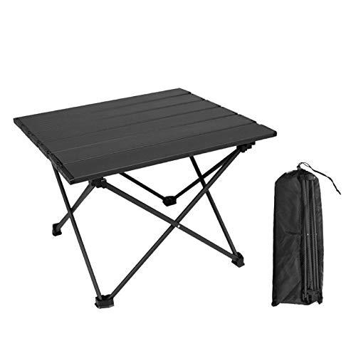Mesa Plegable para Acampada Ligera Aleación de Aluminio Portátil Mesa de Comedor para Camping, Picnic, Patio, Barbacoa,S