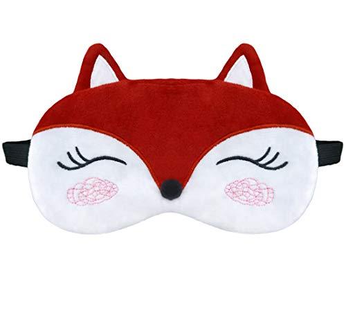 dressfan Nette Tier Einhorn schlafmaske Cartoon Augenklappe Atmungsaktiv Flauschige Augenmaske Für Schlaf Reisen Kinder Erwachsene Dame Mehrere Stile (Rot, Einheitsgröße)