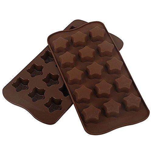 ounona 15 Cavité Silicone Praline formes, moules à chocolat, moules en silicone, glace moules, formes de Savon En Silicone Pâtisserie formes -- forme d'étoile
