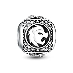 Material: 100% Genuine 925 Sterling Silver, classic and high quality. Compatible with Pandora Charms, Biagi, Troll, Chamilia, European Style, Persona, Ohm, Kay's Charmed Memories and More. Fits both necklace and bracelet 3mm or smaller. Packing Gift:...