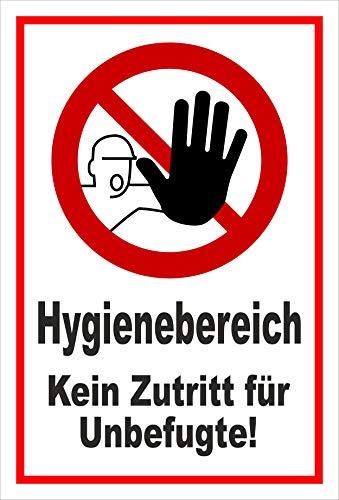 Melis Folienwerkstatt Schild Hygienebereich - 45x30cm - Bohrlöcher - 3mm Hartschaum – 20 VAR S00225-003-B