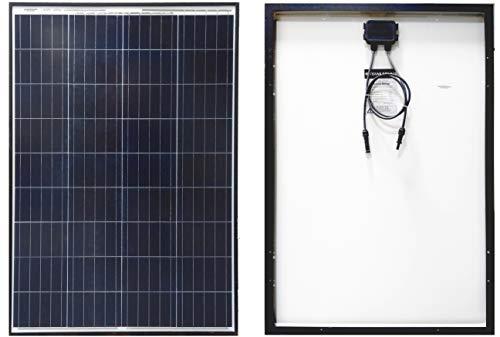 Texas Solar 100 Watt Polycrystalline 100W 12V Poly Solar Panel Module RV Marine Boat Yacht Off...