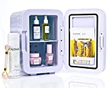 ESKIMATE 6 LiterCompact Portable Mini Fridge for Bedroom, Office, Car, Dorm with Thermoelectric Cooler and Warmer, Small Refrigerator Storage for Skincare, Beauty, Breastmilk, Snacks - Classic White