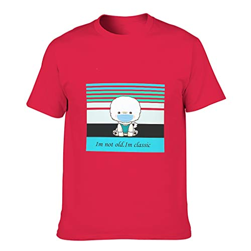 Herren Baumwoll-T-Shirt Ich Nicht alt. Im Klassiker langlebig - Muster Thema Hemd red1 3XL