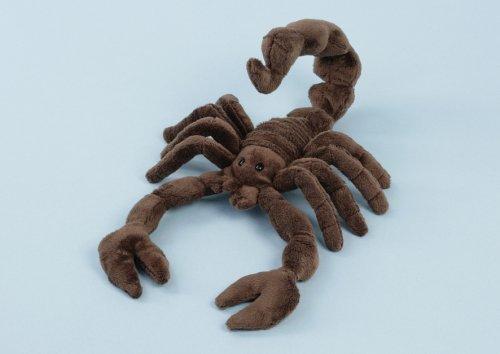 EBO 60387 - Skorpion, 25 cm lang, brauner Mikrofaservelour, gebogener Schwanz