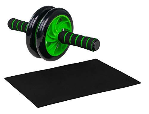 Jung & Durstig AB Wheel Bauchroller | Bauchmuskeltrainer, Fitnessgerät zur Stärkung der Bauchmuskulatur, inkl. Kniematte