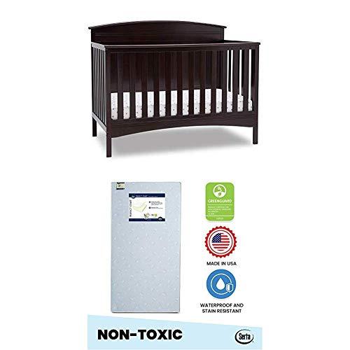 Review Of Delta Children Archer Deluxe 6-in-1 Convertible Crib, Dark Chocolate and Delta Home 6-inch...