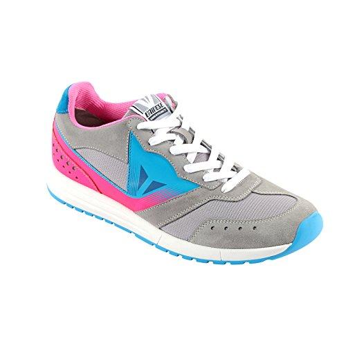 Dainese-PADDOCK LADY Schuhe, Light-Grau/Fuchsia/Fluo-Blau, Größe 36