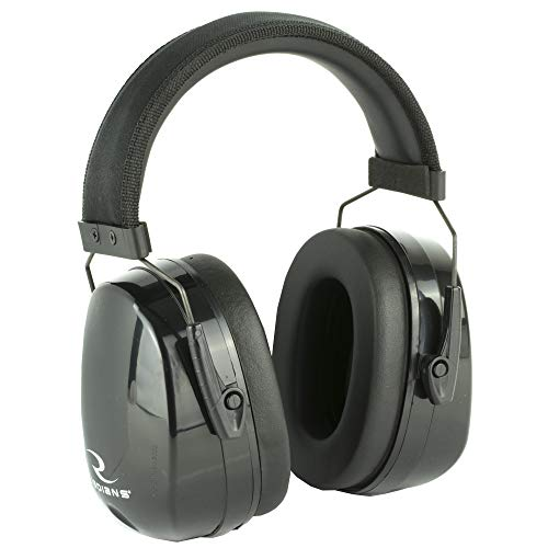 Radians MX0100CS Maximus Earmuff with Extra Set of Plugs NRR 38Db, Black