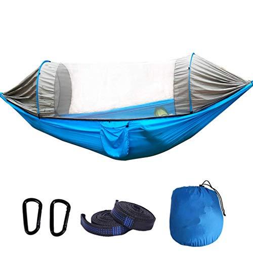 XHLLX Hamaca de camping con mosquitero plegable ligera portátil al aire libre Paracaídas Anti-Rollover Hamacas Swing Hamaca para dormir
